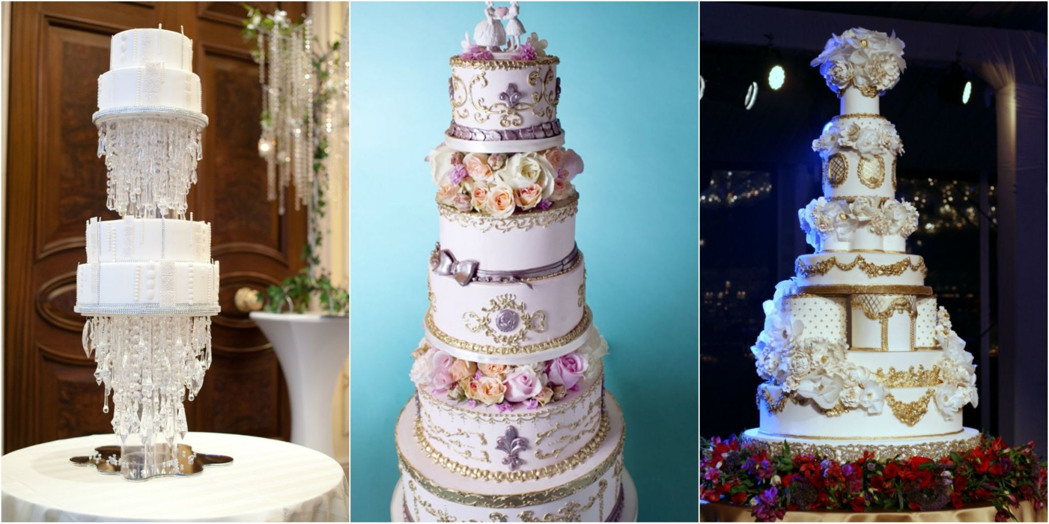 Outrageous and Crazy Wedding Cakes Pictures     Delish com These cakes see your three tiers and raise you eight