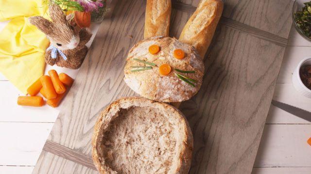 bunny bread bowl dip-nondonblog
