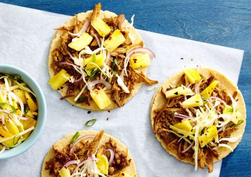 Image result for pulled pork tacos with pineapple slaw