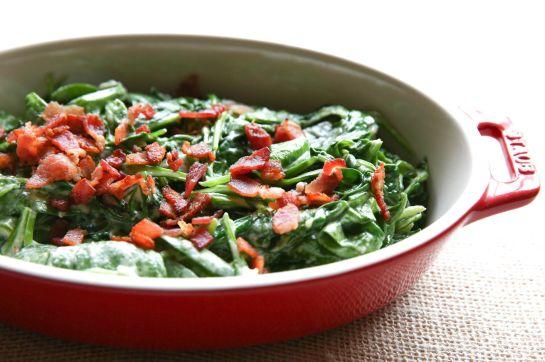 Creamed Bacon Spinach Horizontal