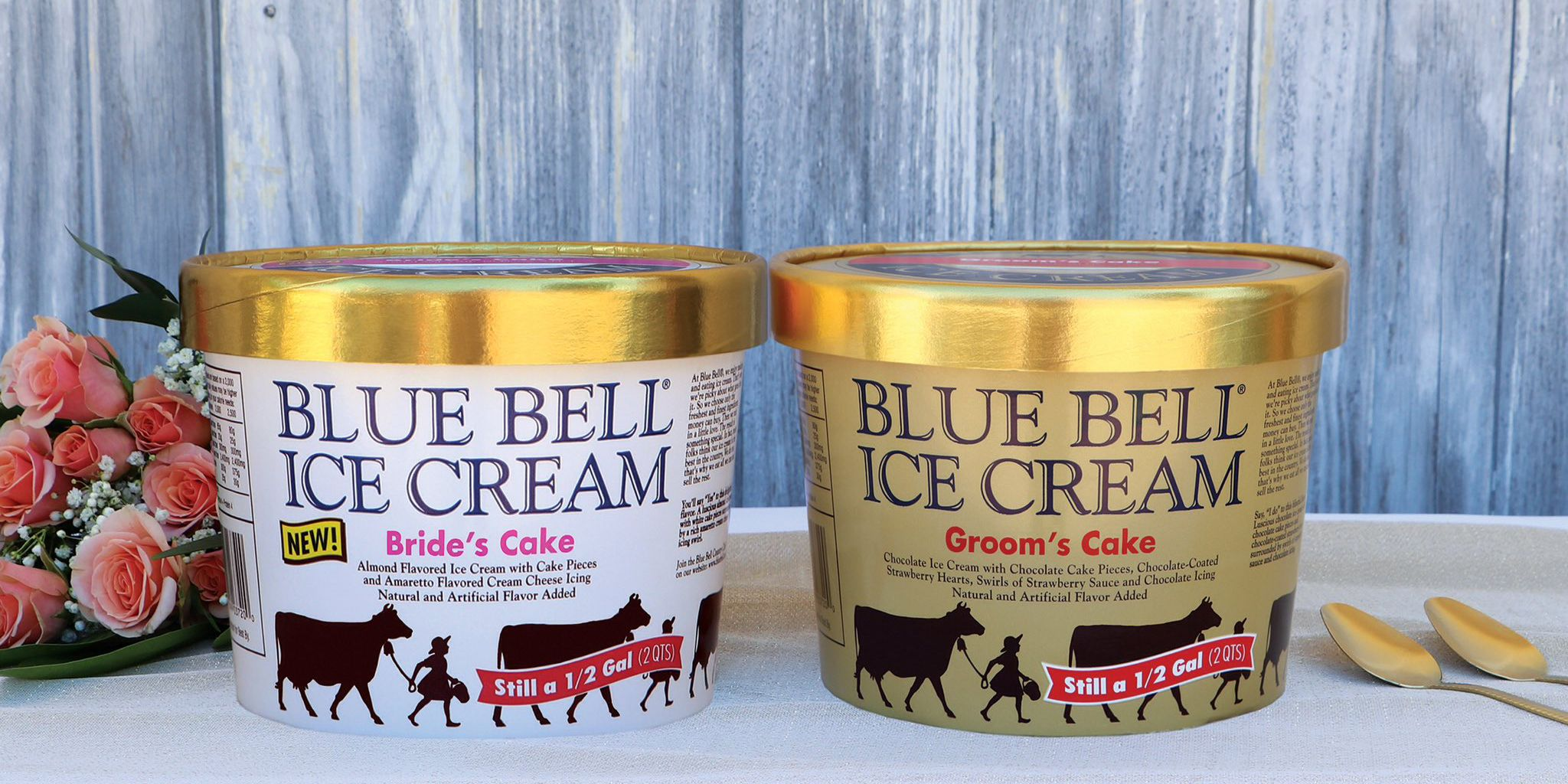Blue Bell Introduces New Wedding Cake Inspired Ice Cream Brings Back Groom S Cake Flavor
