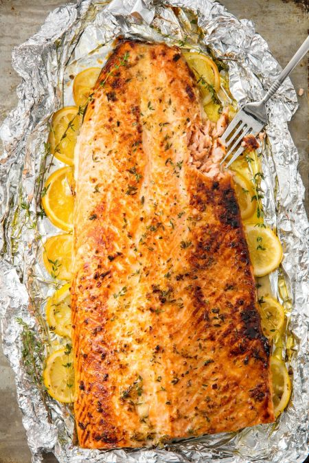 Baked Salmon Vertical Image