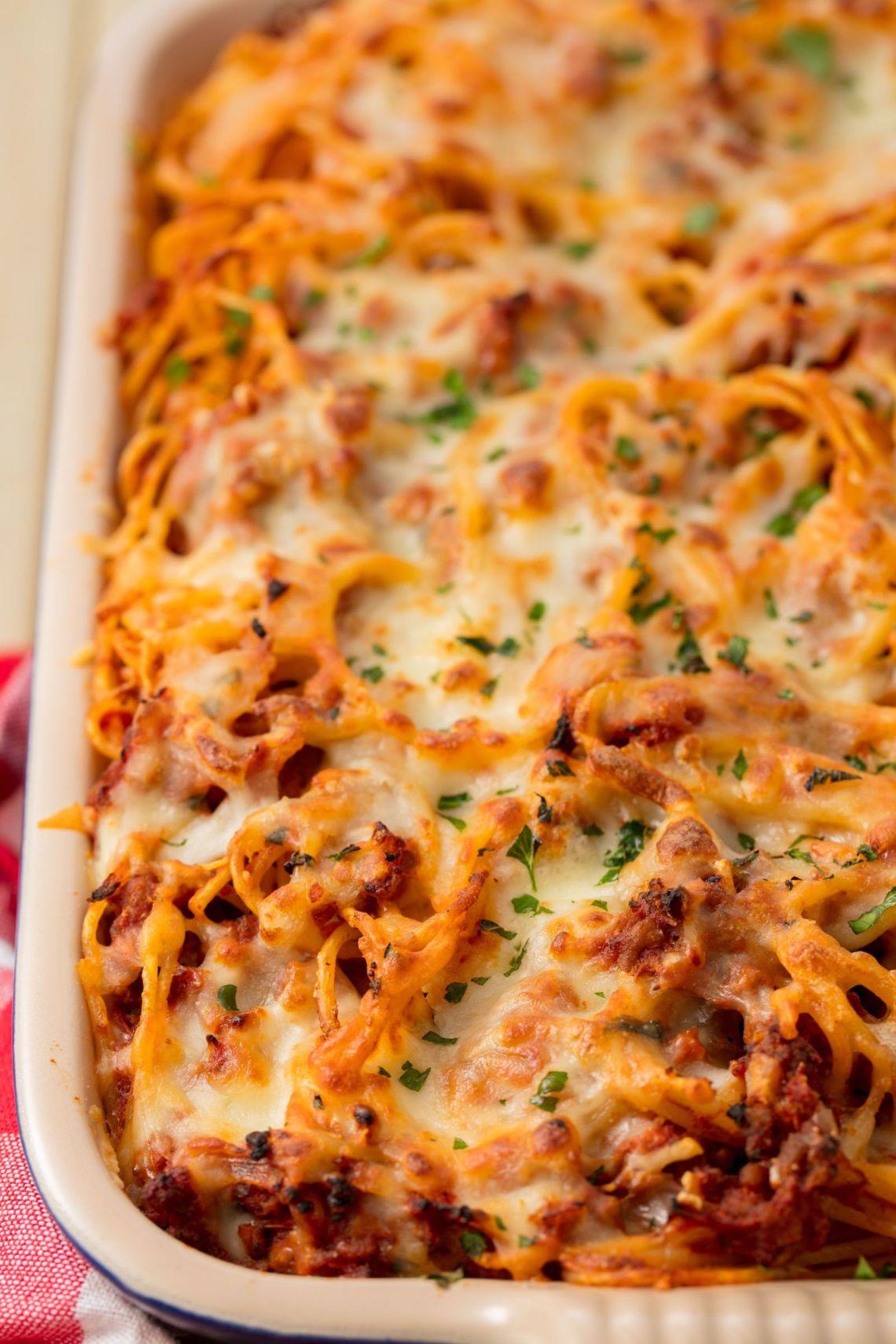 Baked Spaghetti Vertical