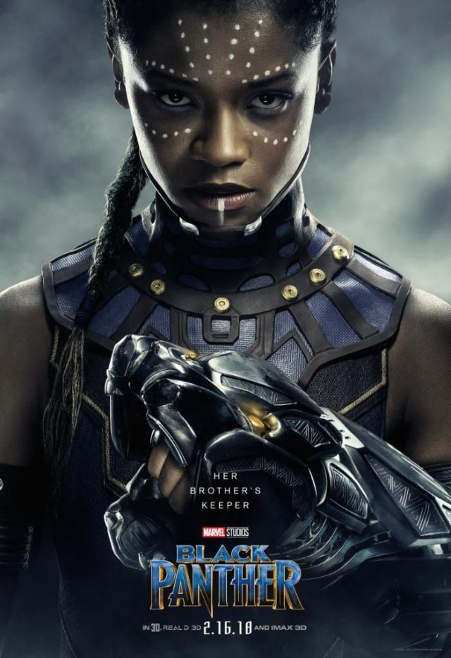 letitia wright as shuri in new black panther character posters