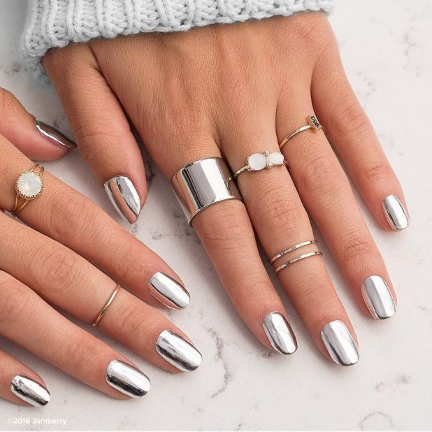 """<p><a href=""""https://www.youtube.com/watch?v=k6aLA8UYGks"""" target=""""_blank"""" data-tracking-id=""""recirc-text-link"""">Chrome nails</a> are heavily on our minds, but you can skip the salon with easy-to-apply <a href=""""https://www.jamberry.com/us/en/shop/products/metallic-chrome-silver"""" target=""""_blank"""" data-tracking-id=""""recirc-text-link"""">nail wraps</a>.</p><p><em data-redactor-tag=""""em"""" data-verified=""""redactor"""">Design by</em><a href=""""https://www.instagram.com/p/BK0ssYDgrmQ/"""" target=""""_blank""""><em data-redactor-tag=""""em"""" data-verified=""""redactor"""">@jamberry</em></a></p>"""
