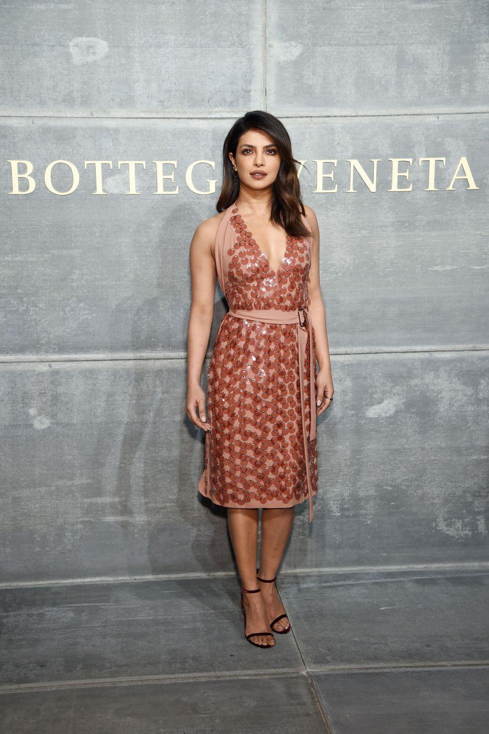 Priyanka Chopra Bottega Veneta to the Bottega Veneta show in New York