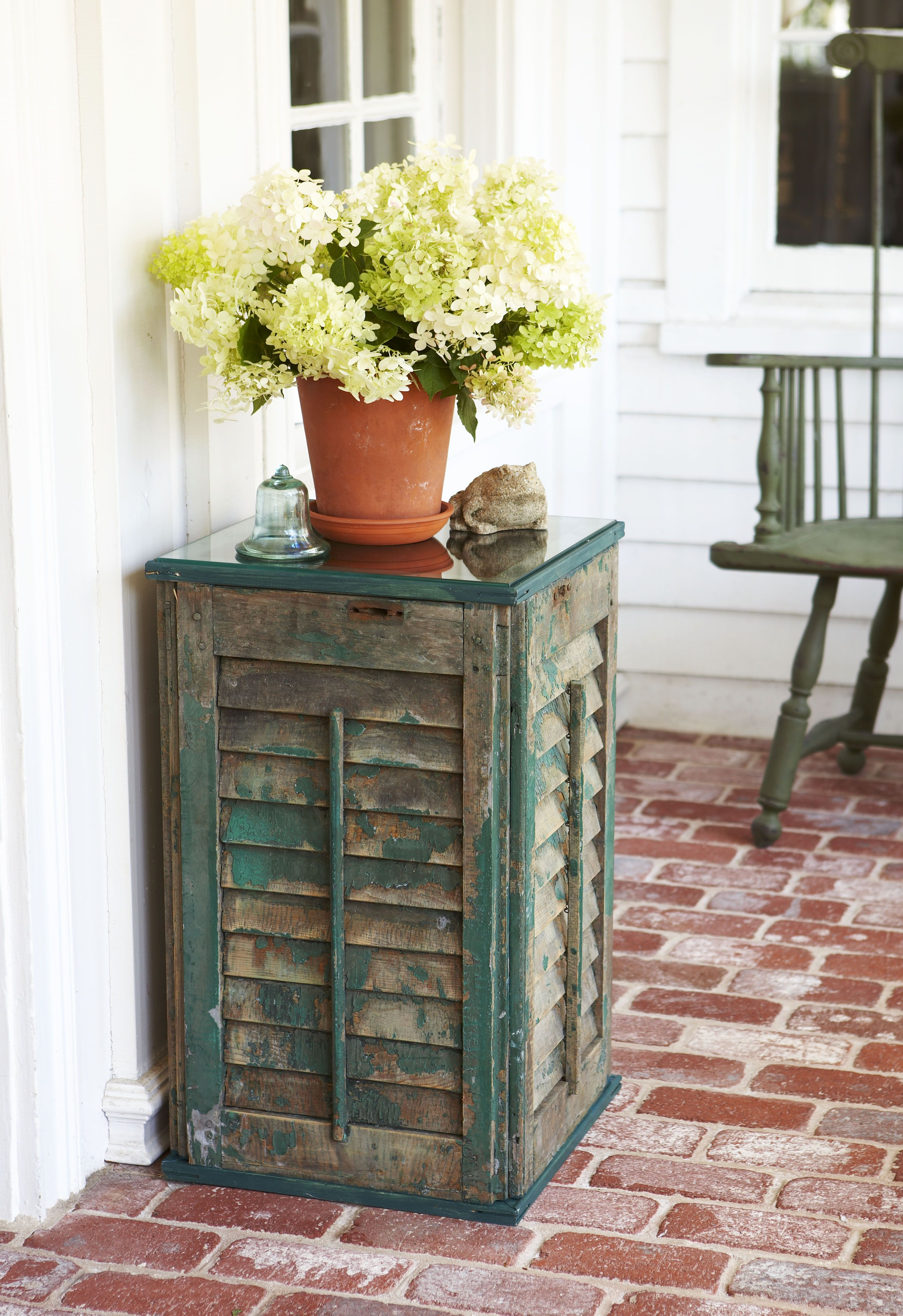 Diy Side Table How To Build A Shutter Side Table