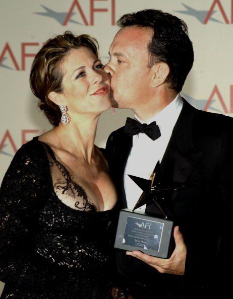 rita wilson and tom hanks - afi life achievement award 2002