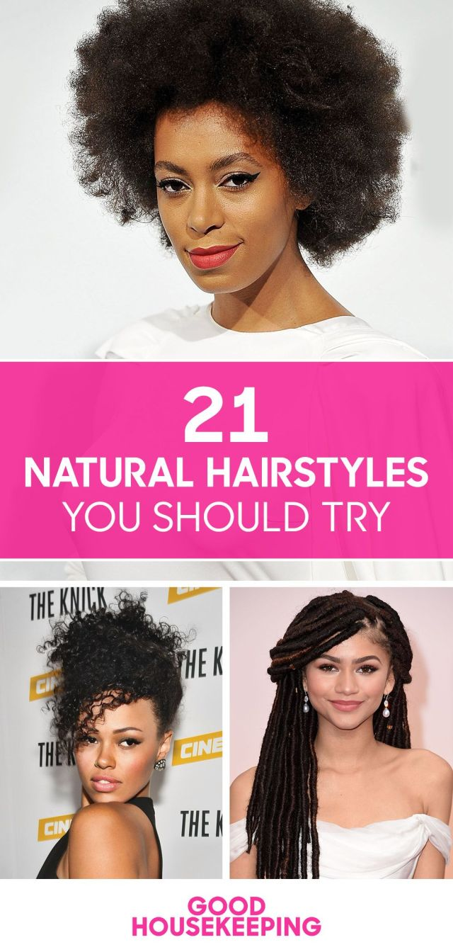 30 easy natural hairstyles for black women - short, medium