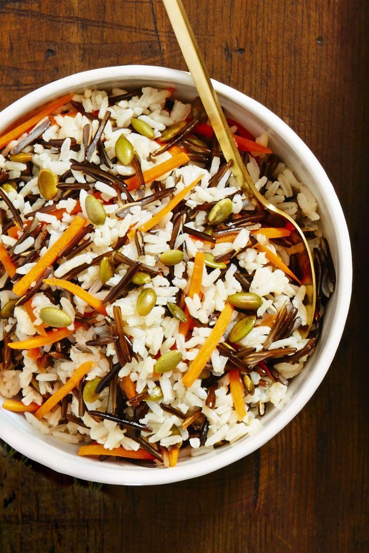 wild rice with pepitas