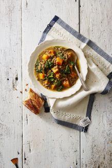 Pressure Cooker Winter Squash and Lentil Stew