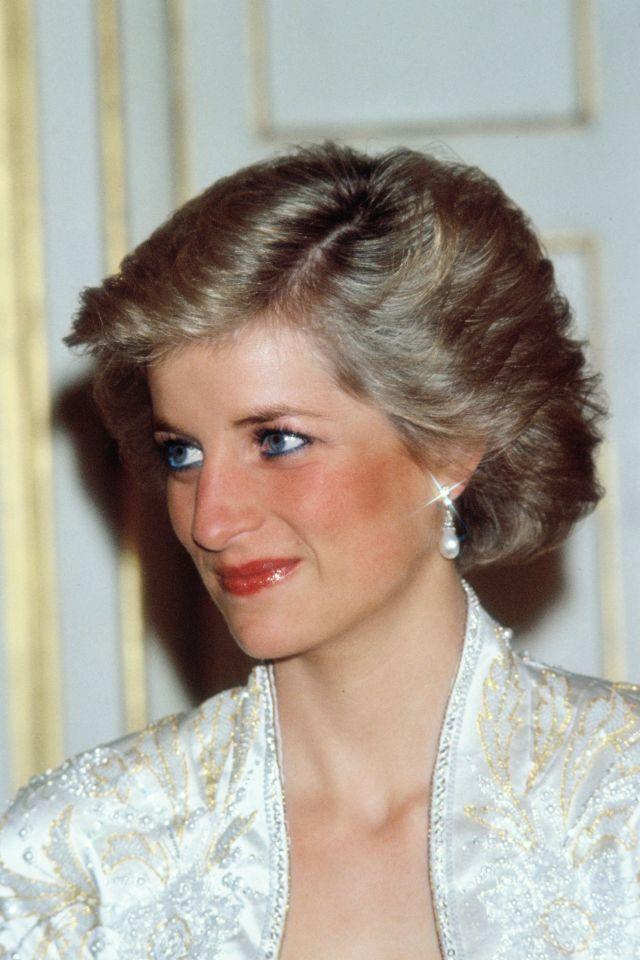 princess diana's hair though the year - diana princess of