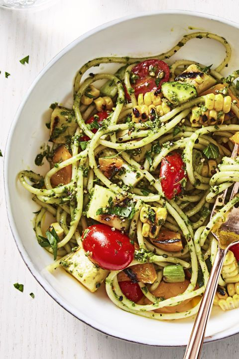 1518455443 summer pesto pasta mike garten - Healthy Things to Eat for Lunch -19 Healthy Lunch Ideas for You