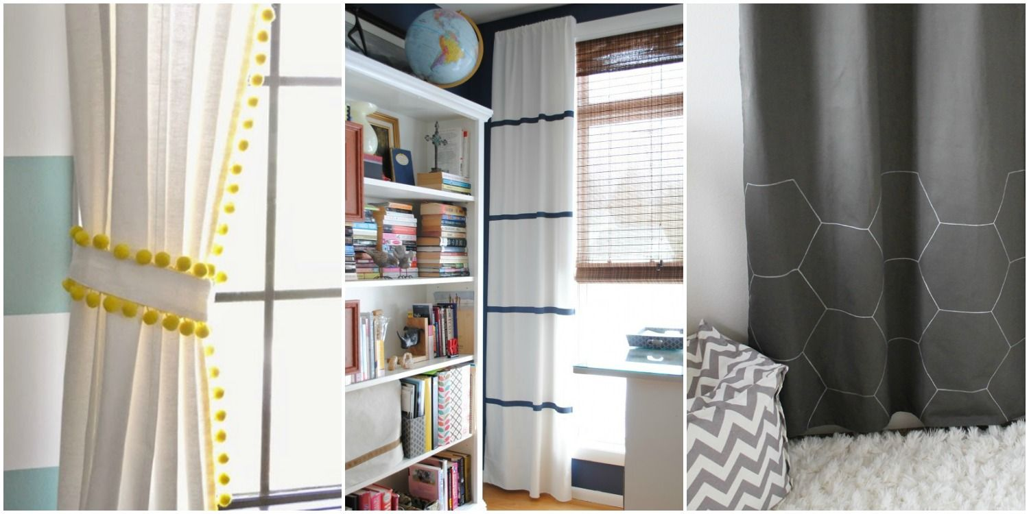 ikea curtain makeovers how to hack