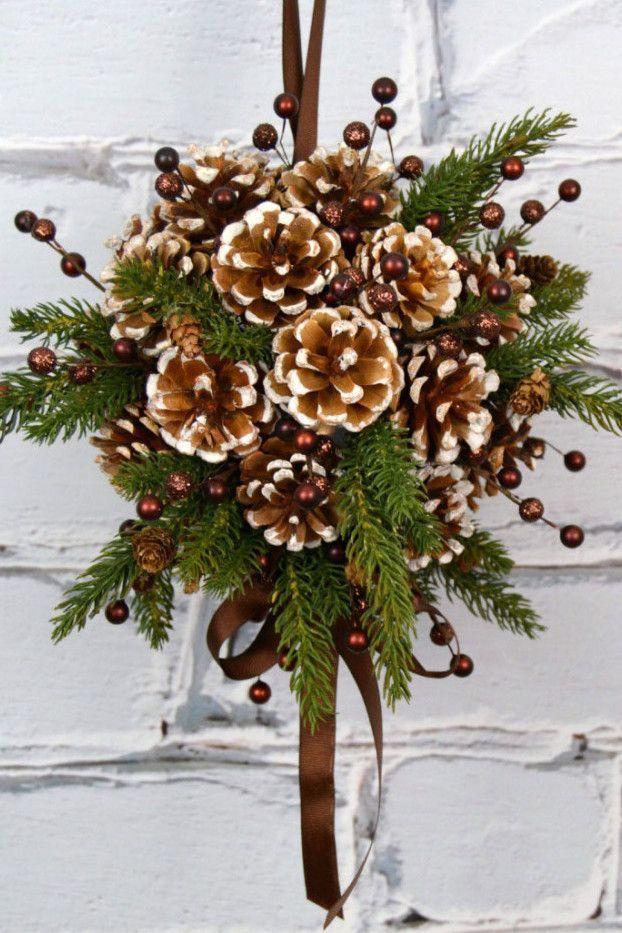 floral décorations de noël
