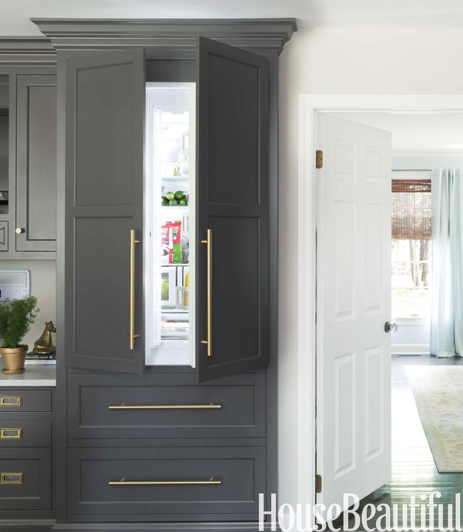 paneled refrigerator house beautiful