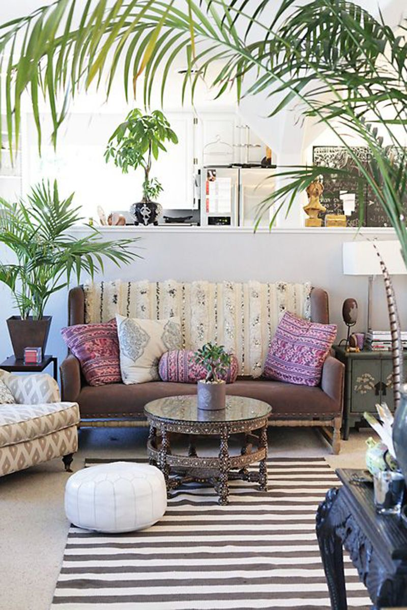 Bohemian Interior Design Trend and Ideas   Boho Chic Home Decor Bright Moroccan inspired accent pillows bring a subtle
