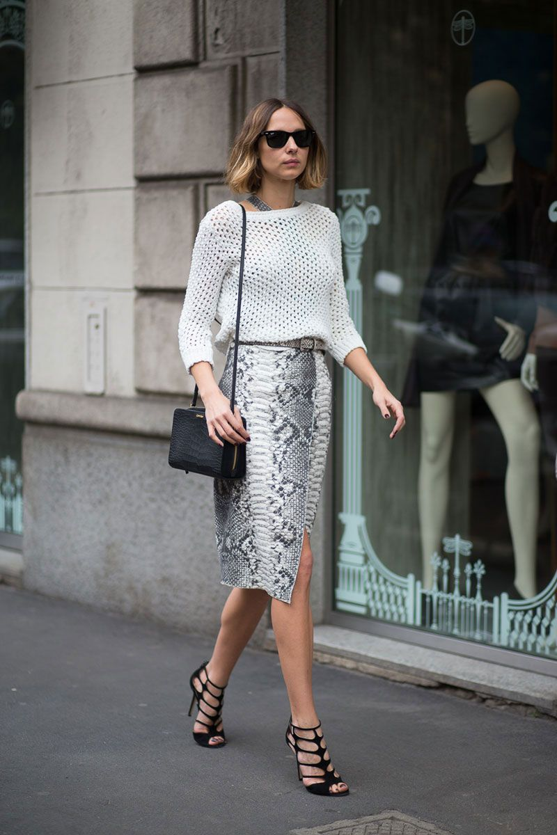 Insouciance is something we are always pursuing in the style department, but in the case of looking like you know what you are doing, tuck in any shirttails or a baggy sweater hem and cinch your waist with a chic belt for maximum impact.