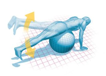 Illustration of a hip extension exercise