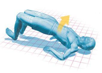 Illustration of a power bridge exercise