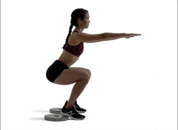 Image result for heel elevated goblet squat