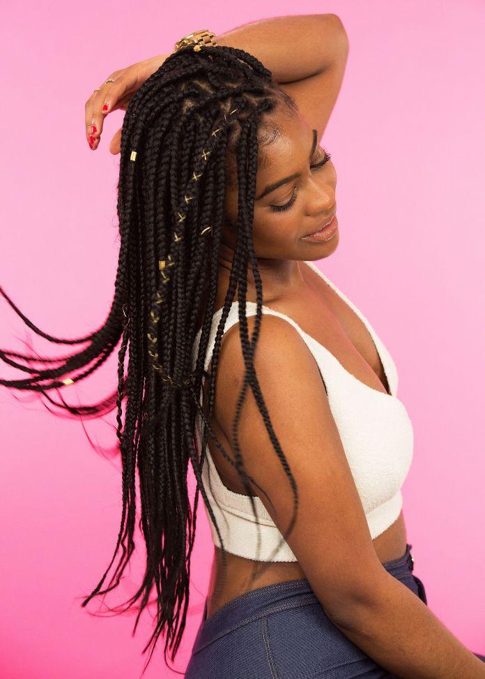 Embellished box braids