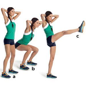 Squat kicks: Natural remedy for Hips enlargement]