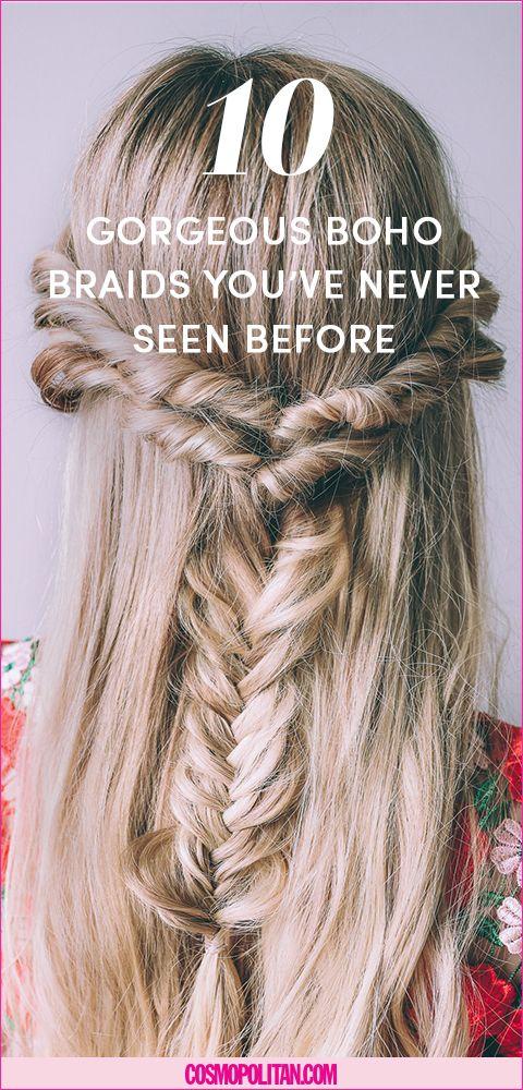 17 Messy Boho Braid Hairstyles To Try Gorgeous Touseled