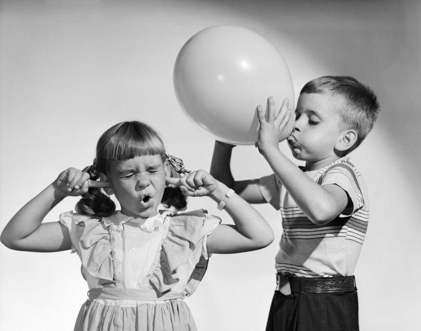 1950s LITTLE BOY BLOWING...