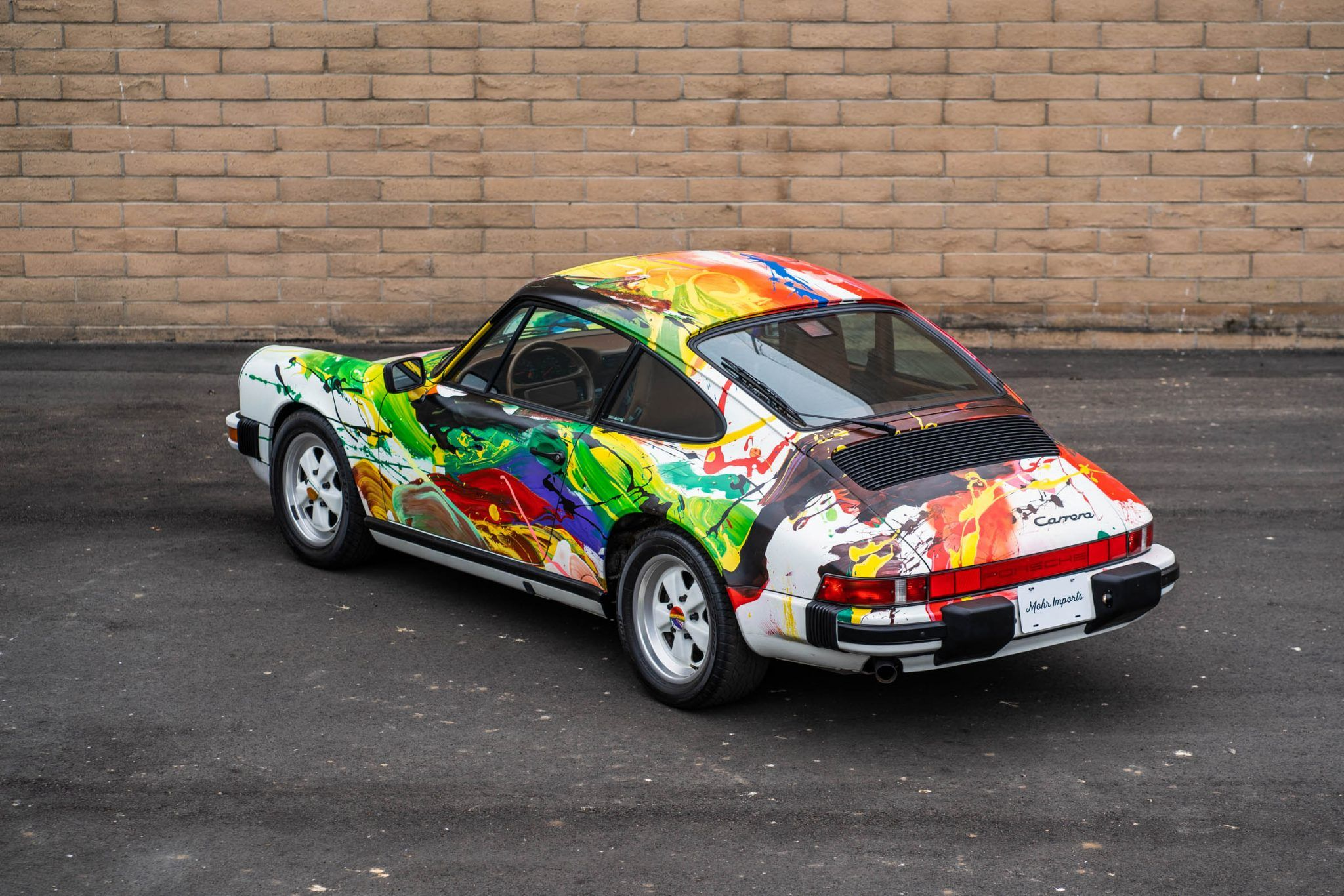 1989 porsche 911 carrera art car