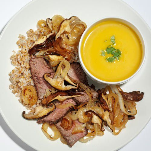 Beef Stir-Fry with Butternut Squash Soup