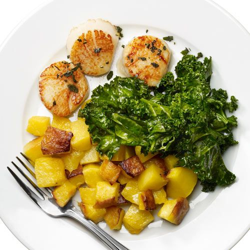 Seared Scallops with Lemon Juice and Sage