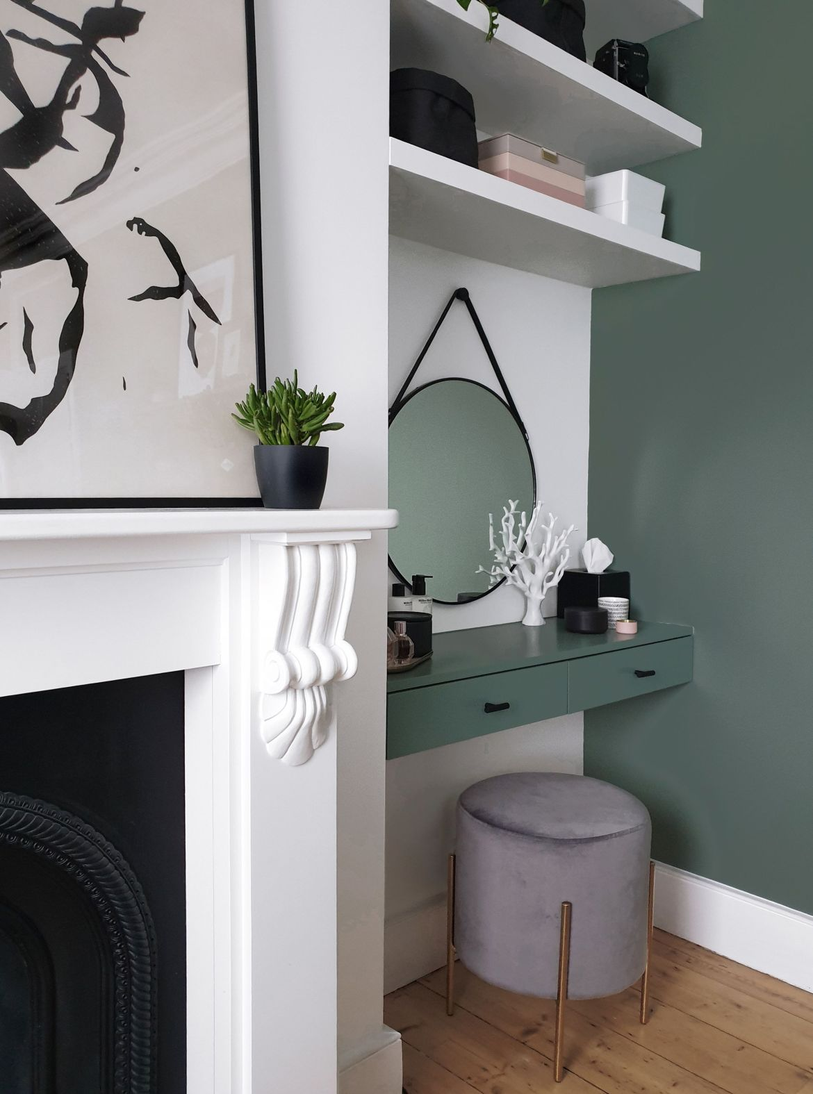 dressing table alcove ideas, baltimore low stool, velvet upholstered, charcoal greycult furniture