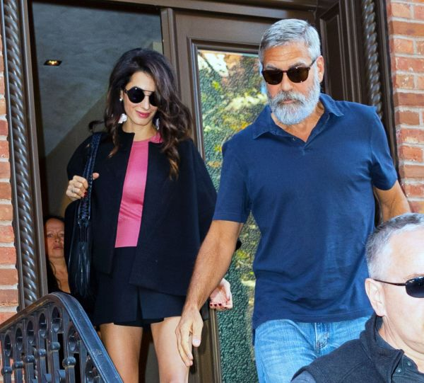 Amal Clooney Wore a Stunning Black Mini-Skirt for Her Fifth Wedding Anniversary