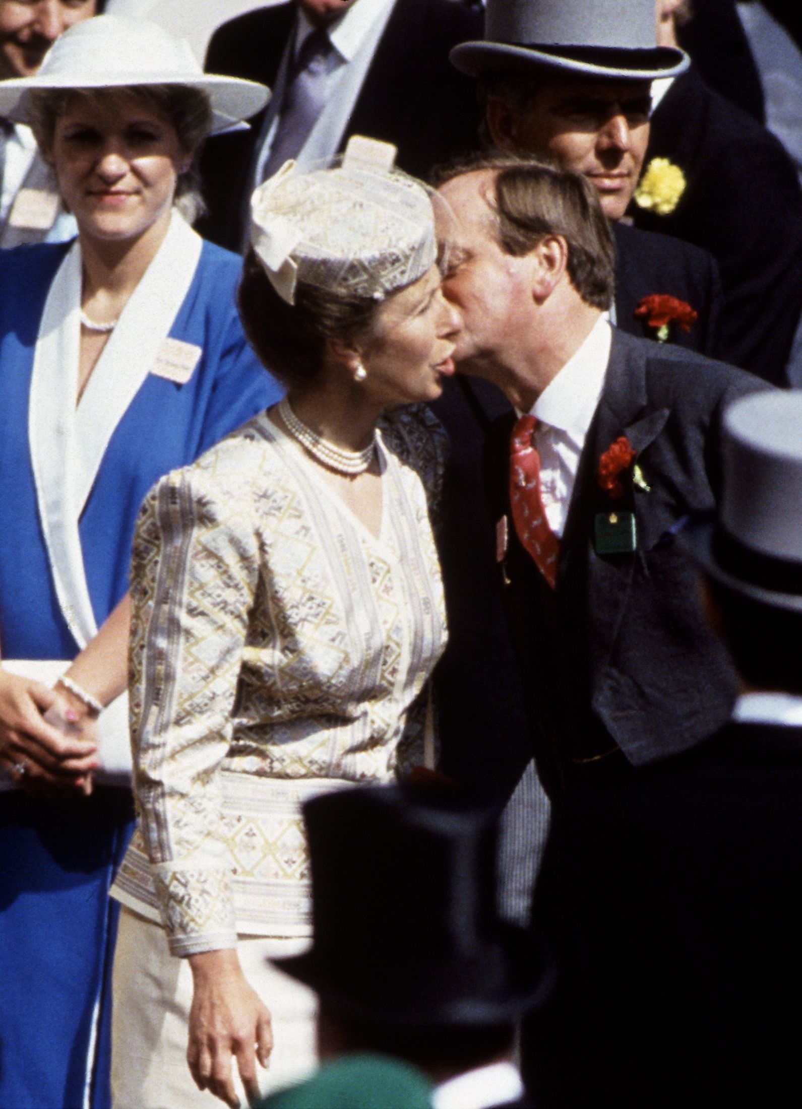 Anne And Parker-bowles Kissing