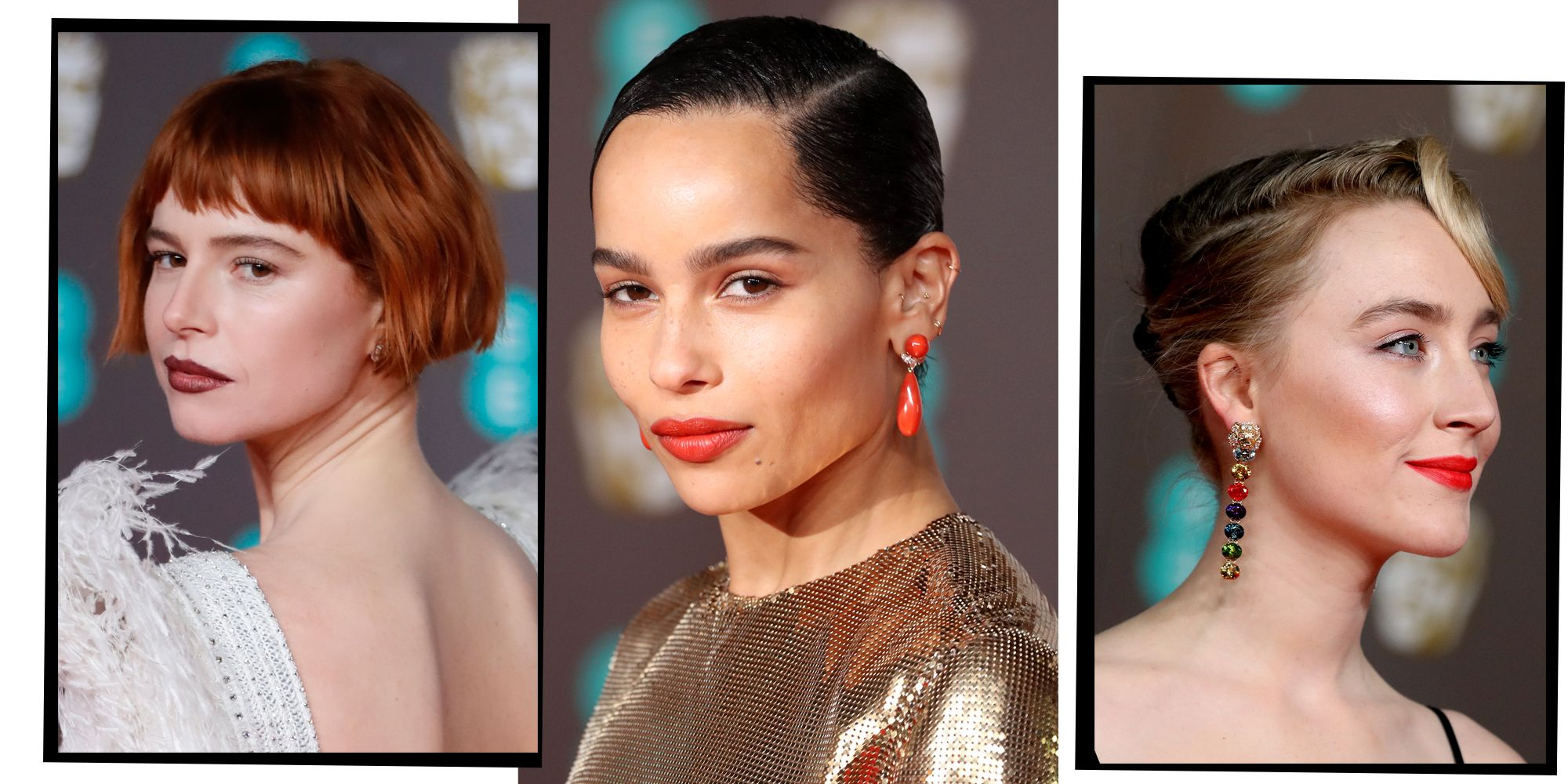 Baftas 2020 The Best Celebrity Hair And Make Up Looks From The