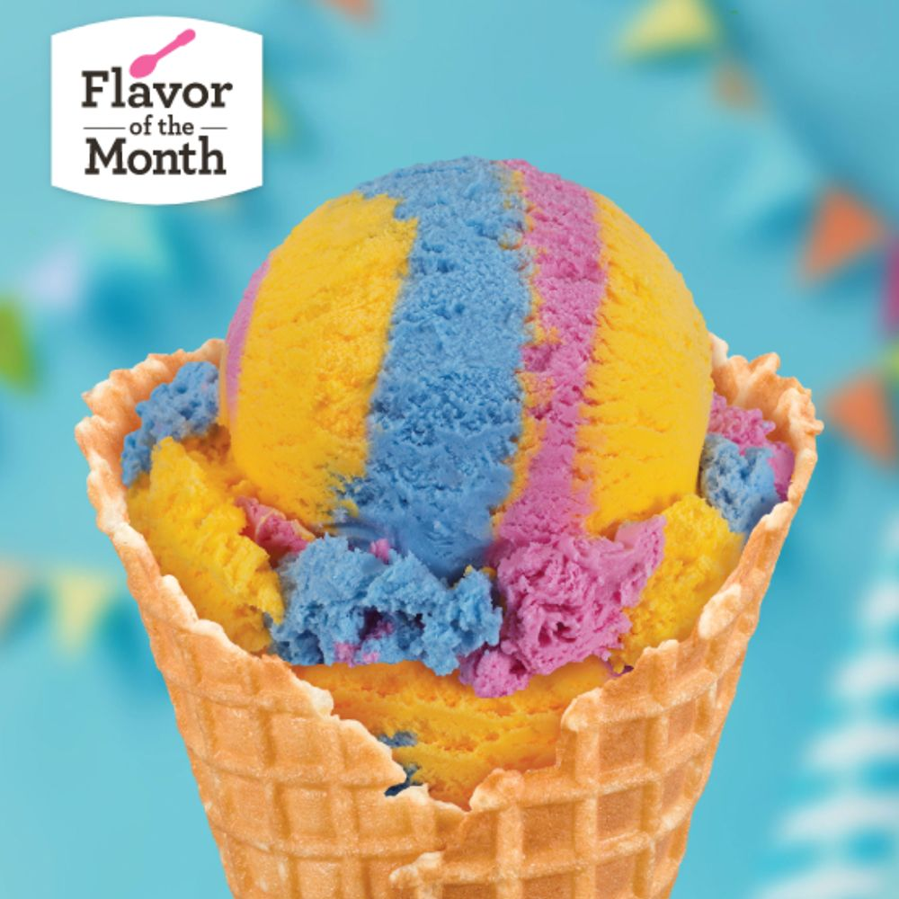Baskin Robbins Has A New Flavor That Swirls Cake Batter And Buttercream Ice Creams Together