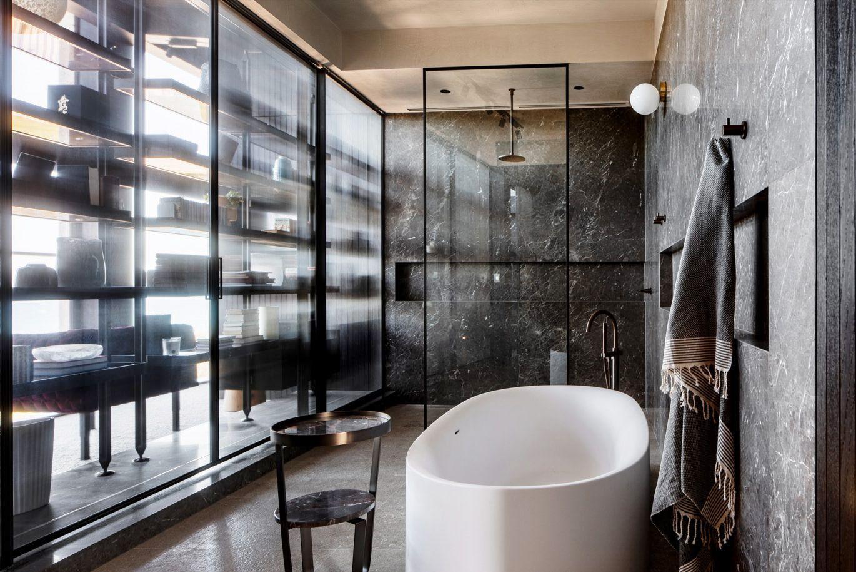 15 chic black bathrooms black and