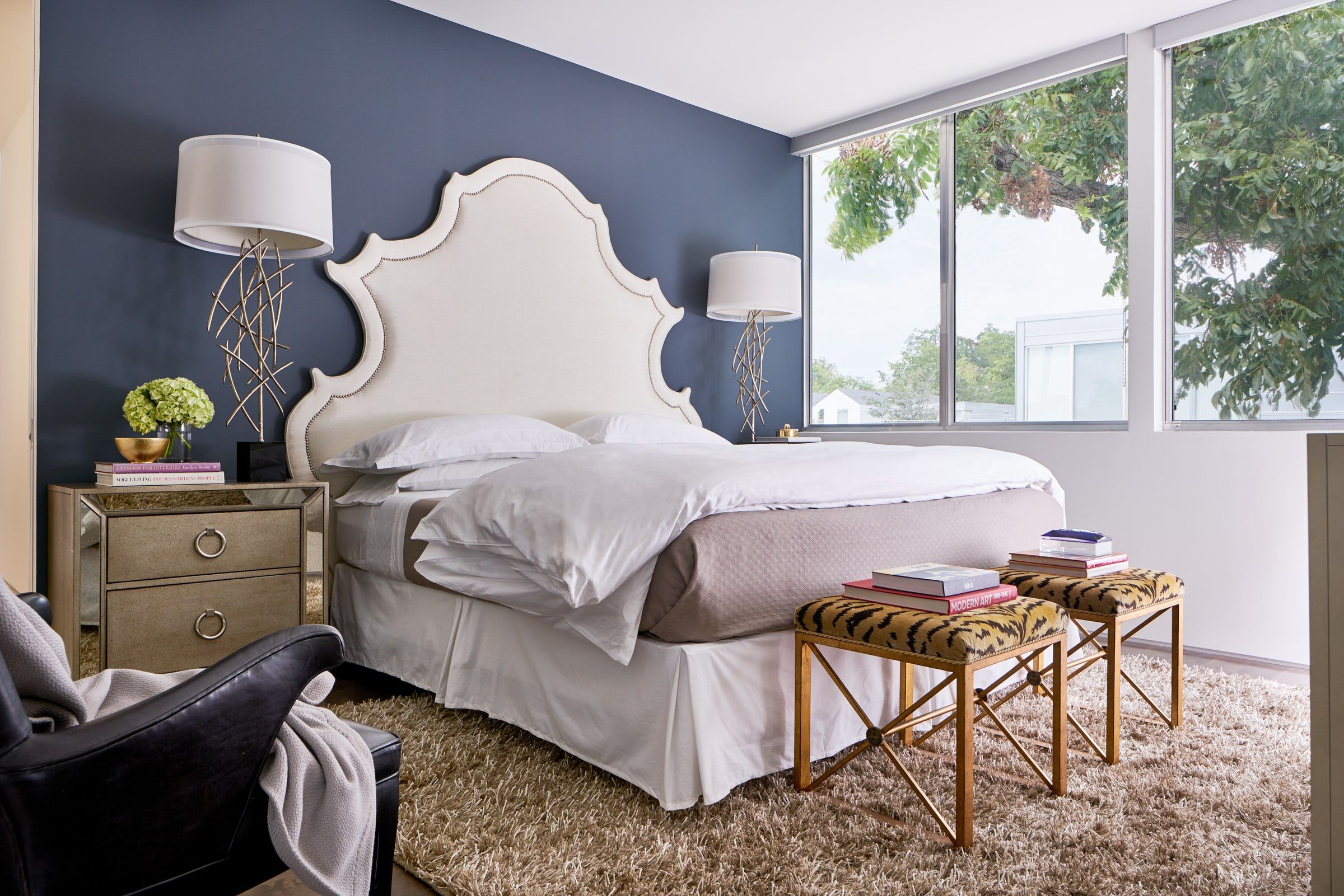 ideas for blue painted accent walls