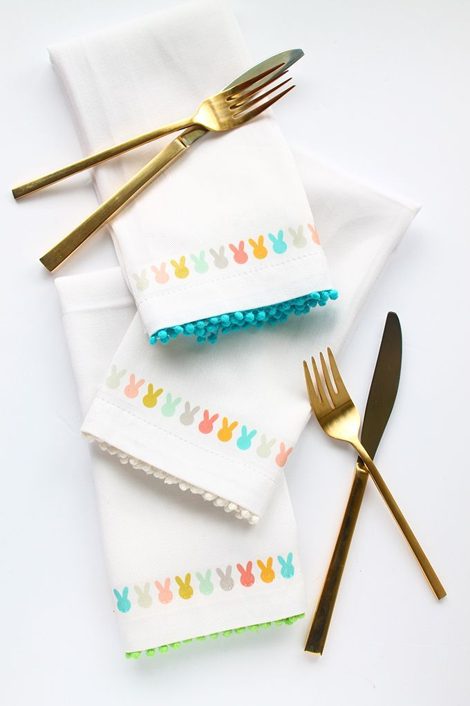 bunny napkins easter decorations