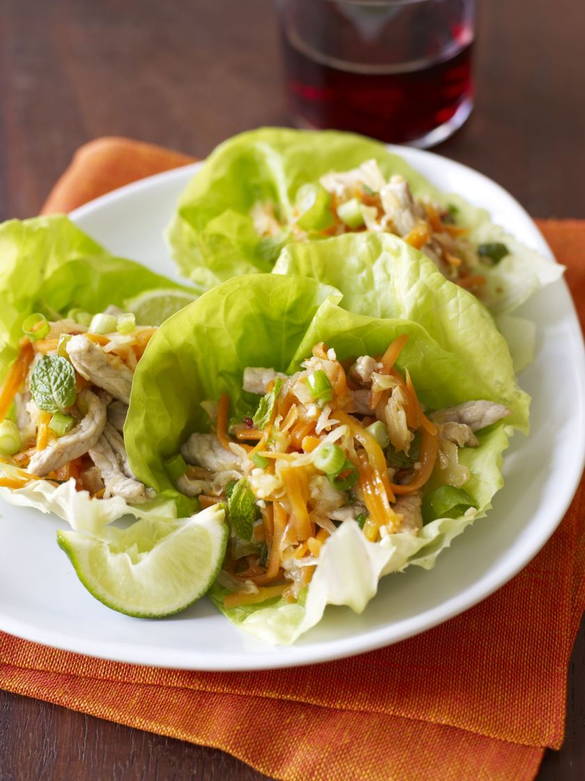 Chicken Lettuce Cups with Vegetables