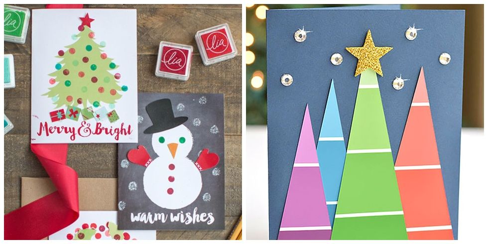17 DIY Christmas Card Ideas Easy Homemade Christmas