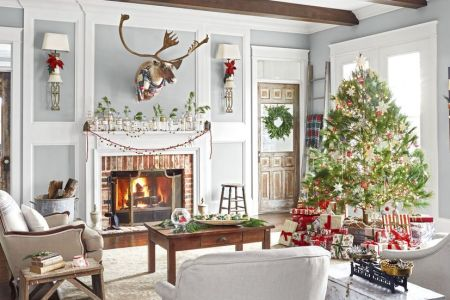 110 Country Christmas Decorations   Holiday Decorating Ideas 2018 christmas decorating ideas  Country Living