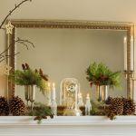 25 Christmas Mantel Decor Ideas Fireplace Holiday Decorations
