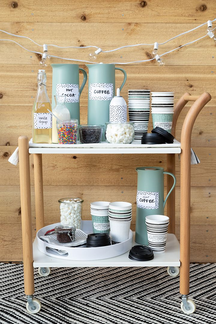 Coffee Bar Ideas - Outdoor Cart