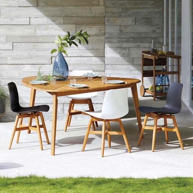 muebles de jardín comedor en el porche