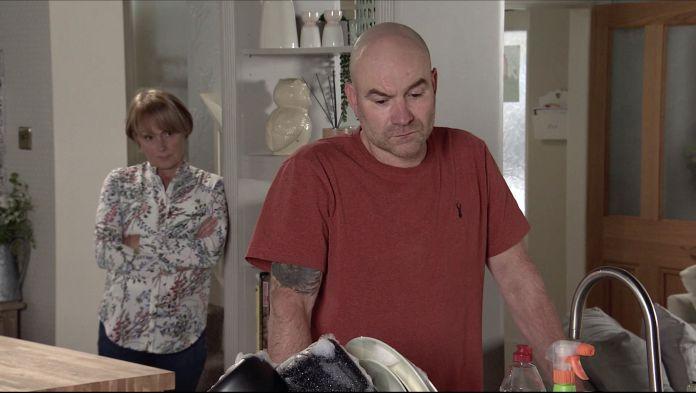 Sally and Tim Metcalfe on Coronation Street