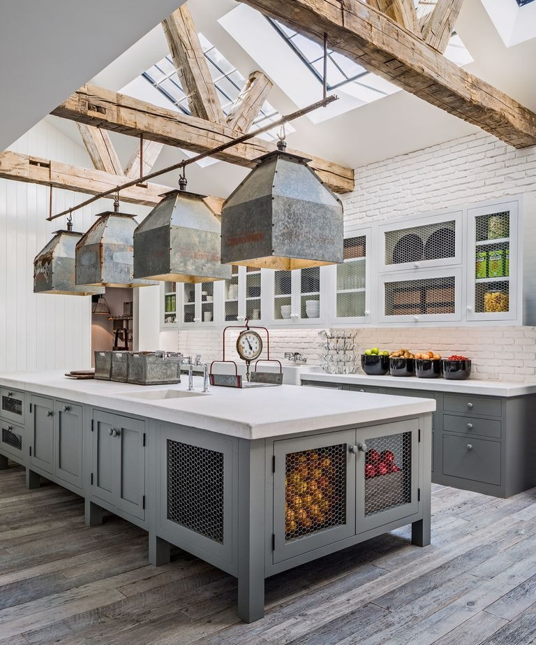 100 Best Kitchen Design Ideas Pictures Of Country Kitchen | House Plans With Stairs In Kitchen | Upstairs | Country Kitchen | Hidden Pantry | Luxury | Small House