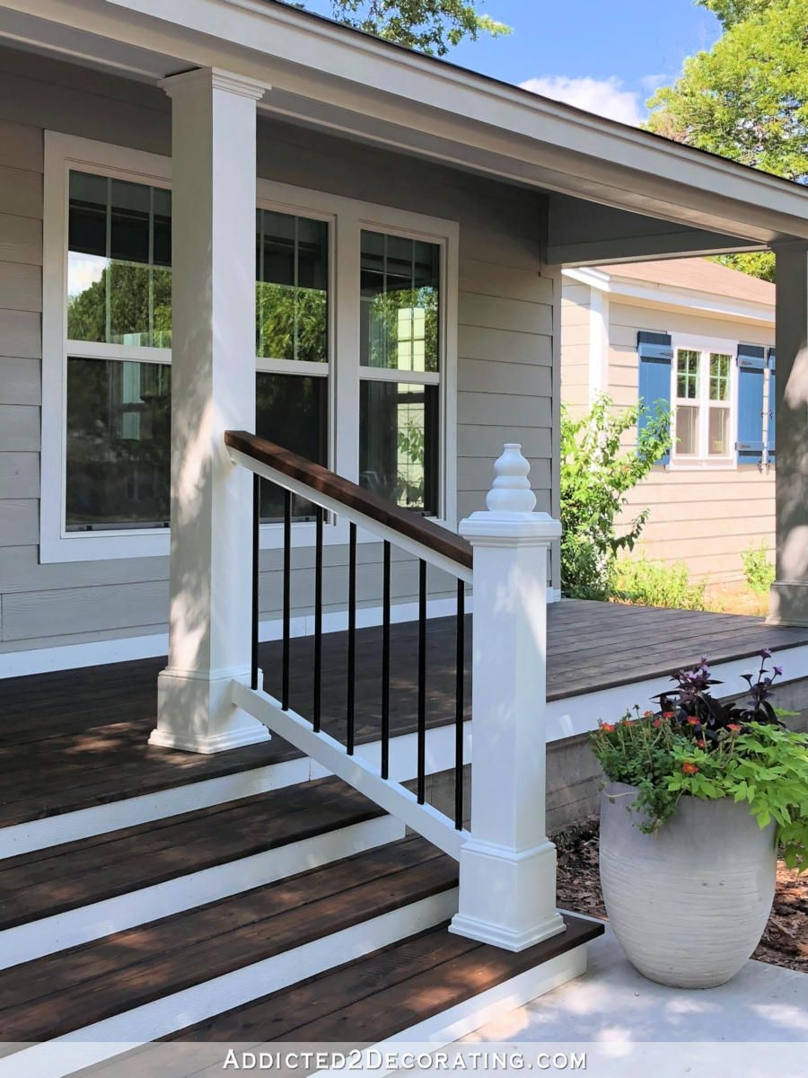 20 Diy Front Step Ideas Creative Ideas For Front Entry Steps | Wood Stairs Over Concrete | Stair Stringers | Cement | Concrete Slab | Patio | Build