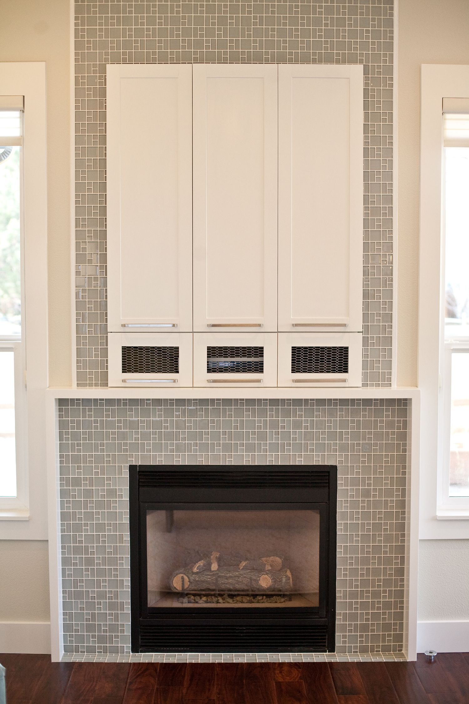 modern fireplace tile surround ideas